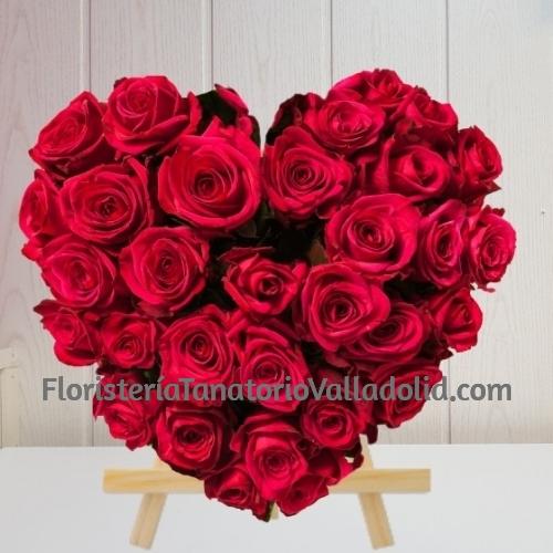 Corazon Funerario rosas rojas especial para tanatorio