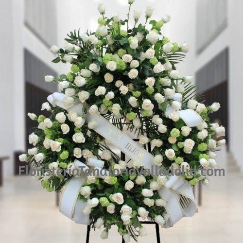 Corona Funeraria Rosas Blanca Valladolid