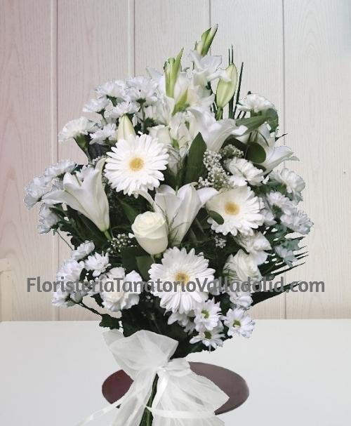 Ramo funerario blanco con envio urgente