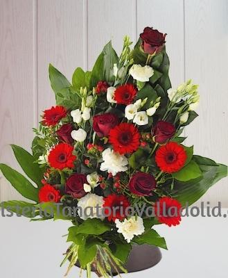 Ramo funerario rosas y lisianthus para tanatorio envio urgente