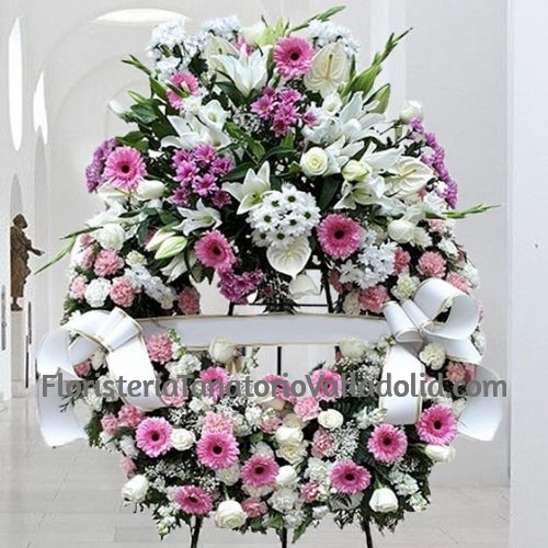 Corona Funeraria Rosada Valladolid