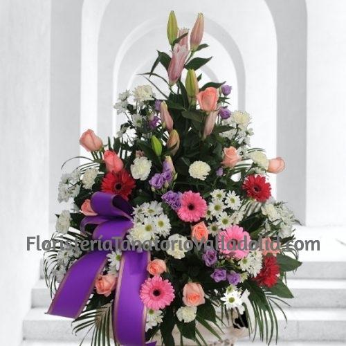 Palma Funeraria Rosa, Composición Floral Fúnebre