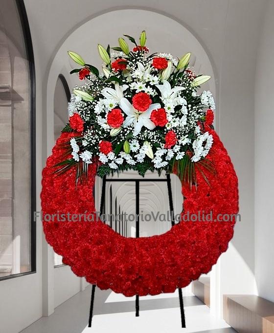 Corona Funeraria Valladolid, Corona de Flores Fúnebres, Flores para Decesos, Trabajos Florales Fúnebres, Floristería Tanatorio Valladolid